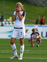 Dejected USA striker Courtney Verloo..FIFA U17 Women's World Cup Final, USA v Korea DPR, Albany Stadium, Auckland, New Zealand, Sunday 16 November 2008. Photo: Renee McKay/PHOTOSPORT