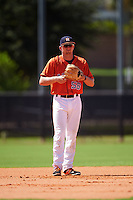 GCL Astros third baseman Brody Westmoreland (58) during the first game of a doubleheader against the GCL Mets on August 5, 2016 at Osceola County Stadium Complex in Kissimmee, Florida.  GCL Astros defeated the GCL Mets 4-1 in the continuation of a game started on July 21st and postponed due to inclement weather.  (Mike Janes/Four Seam Images)
