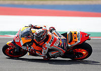3rd October 2021; Austin, Texas, USA; Marc Marquez (93) - (SPA)  on the 11th turn during the MotoGP Red Bull Grand Prix of the Americas on October 3, 2021 at the Circuit of the Americas