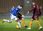 St Johnstone v Motherwell…15.12.18…   McDiarmid Park    SPFL<br />Tony Watt battles with Richard Taot and Charles Dunne<br />Picture by Graeme Hart. <br />Copyright Perthshire Picture Agency<br />Tel: 01738 623350  Mobile: 07990 594431