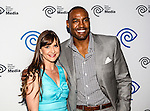 Kellie Martin and Darren Woodson at the Time Warner Media Cabletime Upfront media event held at the Private Social Restaurant  in Dallas, Texas.