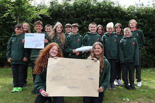 Eglinton Primary School's Salmon Ambassadors make a virtual presentation for the recent conference