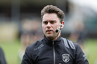 referee Pieter Vandevenne pictured during the warming up of  a female soccer game between Eendracht Aalst and Sporting Charleroi on the fifth matchday of the 2021 - 2022 season of Belgian Scooore Womens Super League , Saturday 2 October 2021  in Aalst , Belgium . PHOTO SPORTPIX    KRISTOF DE MOOR