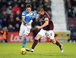 Hearts v St Johnstone…05.11.16  Tynecastle   SPFL<br />Perry Kitchen grabs hold off Danny Swanson<br />Picture by Graeme Hart.<br />Copyright Perthshire Picture Agency<br />Tel: 01738 623350  Mobile: 07990 594431