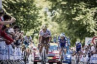 Greg Van Avermaet (BEL/AG2R Citroën) up de Mûr-de-Bretagne finish climb<br /> <br /> Stage 2 from Perros-Guirec to Mûr-de-Bretagne, Guerlédan (184km)<br /> 108th Tour de France 2021 (2.UWT)