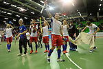 GER - Muelheim an der Ruhr, Germany, February 04: After the FinalFour semi-final men hockey match between Club an der Alster (red) and Mannheimer HC (white) on February 4, 2017 at innogy Sporthalle in Muelheim an der Ruhr, Germany. (Photo by Dirk Markgraf / www.265-images.com) *** Local caption ***