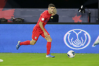 WASHINGTON, D.C. - OCTOBER 11: Christian Pulisic #10 of the United States looks downfield for an open man during their Nations League game versus Cuba at Audi Field, on October 11, 2019 in Washington D.C.