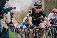 Niki Terpstra (NED/Direct Energie) up the Molenberg<br /> <br /> 74th Omloop Het Nieuwsblad 2019 <br /> Gent to Ninove (BEL): 200km<br /> <br /> ©kramon