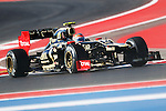 Romain Grosjean (10) driver of the Lotus F1 Team Renault in action during the Formula 1 United States Grand Prix practice session at the Circuit of the Americas race track in Austin,Texas. The Formula 1 United States Grand Prix will take place on 18 November 2012....
