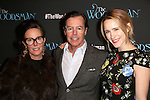 Kate Spade, Andy Spade and Rachel Brosnahan attend the Off-Broadway Opening Night Performance of 'The Woodsman' at The New World Stages on February 8, 2016 in New York City.