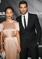 HOLLYWOOD, LOS ANGELES, CA, USA - OCTOBER 29: Cara Santana, Jesse Metcalfe arrive at the 2014 amfAR LA Inspiration Gala at Milk Studios on October 29, 2014 in Hollywood, Los Angeles, California, United States. (Photo by Celebrity Monitor)