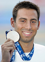 Serbia's Milorad Cavic poses with the gold medal after winning the men's 50 meters butterfly event at the Swimming World Championships in Rome, 27 July 2009..UPDATE IMAGES PRESS/Riccardo De Luca