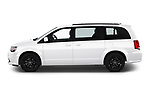 Car Driver side profile view of a 2019 Dodge Grand-Caravan GT 5 Door Minivan Side View