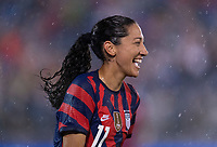 EAST HARTFORD, CT - JULY 1: Christen Press #11 of the USWNT celebrates a goal during a game between Mexico and USWNT at Rentschler Field on July 1, 2021 in East Hartford, Connecticut.