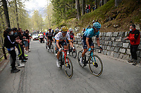 29th May 2021;  Giro D italia stage 20 Valle Spluga to Alpe Motta; Astana - Premier Tech Sanchez Leon, Luis Gil Izaguirre, Gorka in Alpe Motta