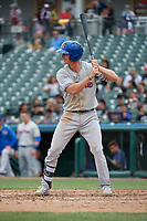 Midland RockHounds Kevin Merrell (6) bats during a Texas League game against the Frisco RoughRiders on May 21, 2019 at Dr Pepper Ballpark in Frisco, Texas.  (Mike Augustin/Four Seam Images)