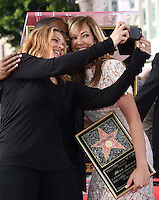 Mary McCormack + Dulle Hill + Allison Janney @ her Walk of Fame ceremony held @ 6100 Hollywood blvd. October 17, 2016