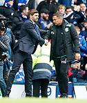 05.05.2019 Rangers v Hibs: Steven Gerrard and Paul Heckingbottom