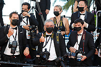 """CANNES, FRANCE - JULY 14: red carpet photographers at the """"A Felesegam Tortenete/The Story Of My Wife"""" screening during the 74th annual Cannes Film Festival on July 14, 2021 in Cannes, France.<br /> CAP/GOL<br /> ©GOL/Capital Pictures"""