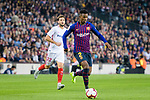Nelson Semedo of FC Barcelona runs with the ball during the La Liga 2018-19 match between FC Barcelona and Sevilla FC at Camp Nou Stadium on October 20 2018 in Barcelona, Spain. Photo by Vicens Gimenez / Power Sport Images