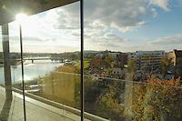 Poland, Krakow, View of Vistula River from hotel