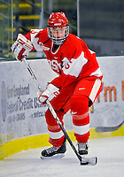 9 February 2008: Boston University Terriers' defenseman Caitlin Reddy, a Junior from Birmingham, Michigan, in action against the University of Vermont Catamounts at Gutterson Fieldhouse in Burlington, Vermont. The Terriers shut out the Catamounts 2-0 in the Hockey East matchup...Mandatory Photo Credit: Ed Wolfstein Photo