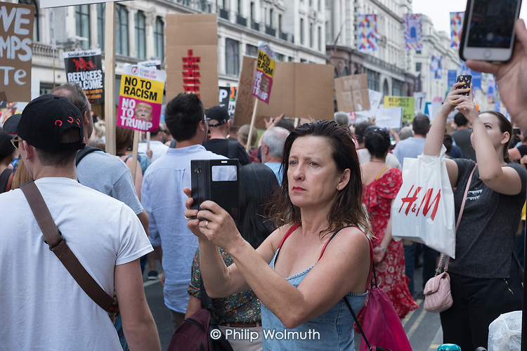 Dump Trump.  March through central London to protest at the UK visit of USA President Donald Trump.