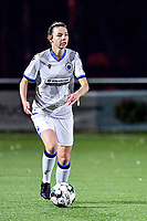 Nicky Van Den Abbeele (28) of Club Brugge pictured during a female soccer game between  Racing Genk Ladies and Club Brugge YLA on the 10 th matchday of the 2020 - 2021 season of Belgian Scooore Womens Super League , friday 18 th of December 2020  in Genk , Belgium . PHOTO SPORTPIX.BE | SPP | STIJN AUDOOREN