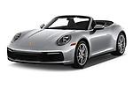 2021 Porsche 911 Carrera 2 Door Convertible Angular Front automotive stock photos of front three quarter view