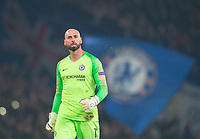 Chelsea's Willy Caballero during the UEFA Europa League match between Chelsea and Malmo at Stamford Bridge, London, England on 21 February 2019. Photo by Andrew Aleksiejczuk / PRiME Media Images.