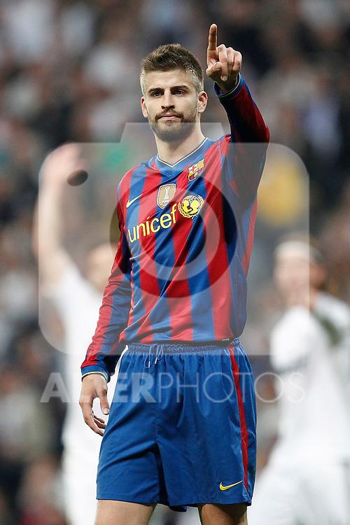 MADRID (10/04/2010).- Spanish League match Real Madrid vs Barcelona. Gerard Pique...Photo Cesar Cebolla / ALFAQUI