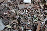 Pieces of metal in various shapes in a used electronics market in central Kolkata.<br /> <br /> To license this image, please contact the National Geographic Creative Collection:<br /> <br /> Image ID: 1925714 <br />  <br /> Email: natgeocreative@ngs.org<br /> <br /> Telephone: 202 857 7537 / Toll Free 800 434 2244<br /> <br /> National Geographic Creative<br /> 1145 17th St NW, Washington DC 20036