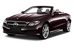 2018 Mercedes Benz E Class 25th Anniversary 2 Door Convertible angular front stock photos of front three quarter view