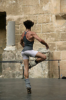 José Martin, Spanish ballet dancer with The Royal Ballet in London, in a pirouette