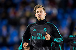 Marcos Llorente of Real Madrid warms up prior to the Copa del Rey 2017-18 match between CD Leganes and Real Madrid at Estadio Municipal Butarque on 18 January 2018 in Leganes, Spain. Photo by Diego Gonzalez / Power Sport Images
