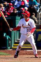 Charlie Cutler (37) of the Springfield Cardinals at bat during a game against the Frisco RoughRiders on April 16, 2011 at Hammons Field in Springfield, Missouri.  Photo By David Welker/Four Seam Images