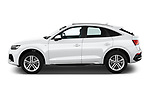 Car Driver side profile view of a 2021 Audi Q5-Sportback S-Line 5 Door SUV Side View