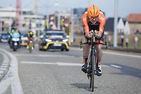 8th place GC: Pim Ligthart (NED/Roompot)<br /> <br /> 3 Days of De Panne 2017<br /> afternoon stage 3b: ITT De Panne-De Panne (14,2km)