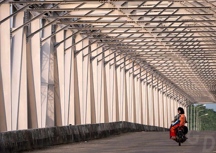 A modern Bridge on the way to MraukU in the Rakine State, Myanmar