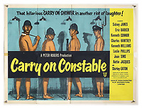 BNPS.co.uk (01202 558833)<br /> Pic: Ewbank's/BNPS<br /> <br /> Pictured: Carry On Constable (1960) poster sold for £1,100. <br /> <br /> A saucy collection of more than 20 vintage film posters from the 'Carry On' films have sold for almost £10,000.<br /> <br /> The 30ins by 40ins British quad posters were used on cinema billboards to advertise the comedy movies from the 1960s and '70s.<br /> <br /> The colourful posters depict comedy actors like Sid James, Kenneth Williams and Barbara Windsor who regularly starred in the comedy caper franchise.