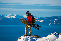 Jeremy Jones takes in the views of home, Lake Tahoe