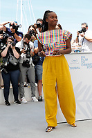 """CANNES, FRANCE - JULY 17: Fatou N'Diaye at photocall for the film """"OSS 117 : Alerte Rouge en Afrique Noire"""" (OSS 117 : From Africa With Love) at the 74th annual Cannes Film Festival in Cannes, France on July 17, 2021 <br /> CAP/GOL<br /> ©GOL/Capital Pictures"""