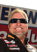 Nov. 13, 2011; Pomona, CA, USA; NHRA funny car driver Jeff Arend during the Auto Club Finals at Auto Club Raceway at Pomona. Mandatory Credit: Mark J. Rebilas-.
