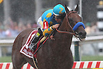 May 16, 2015: American Pharoah, Victor Espinoza up,  wins the Preakness Stakes at Pimlico Race Course in Baltimore, MD. Trainer is Bob Baffert; owner is Zayat Stables. Joan Fairman Kanes/ESW/CSM
