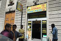 - Milan, Turkish food store in Jenner avenue....- Milano, negozio di cibi turchi in viale Jenner