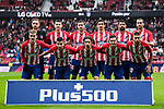 Players of Atletico de Madrid line up and pose for a photo prior to the La Liga 2017-18 match between Atletico de Madrid and Getafe CF at Wanda Metropolitano on January 06 2018 in Madrid, Spain. Photo by Diego Gonzalez / Power Sport Images
