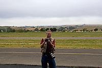 Herb Lingl shoots video at the Petaluma Municipal Airport, Petaluma, Sonoma County, California with the tiny Canon G-12 camera