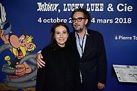 Anne GOSCINNY, Aymar DU CHATENET - Vernissage de l'exposition Goscinny - La Cinematheque francaise 02 octobre 2017 - Paris - France