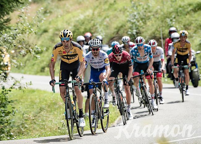Tom Dumoulin (NED/Jumbo-Visma) setting the pace with Julian Alaphilippe (FRA/Deceuninck-QuickStep) in tow<br /> <br /> Stage 5: Megève to Megève (154km)<br /> 72st Critérium du Dauphiné 2020 (2.UWT)<br /> <br /> ©kramon