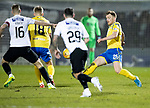 St Mirren v St Johnstone…..04.03.20   Simple Digital Arena   SPFL<br />Liam Craig is closed down by Ross Wallace and Sam Foley<br />Picture by Graeme Hart.<br />Copyright Perthshire Picture Agency<br />Tel: 01738 623350  Mobile: 07990 594431